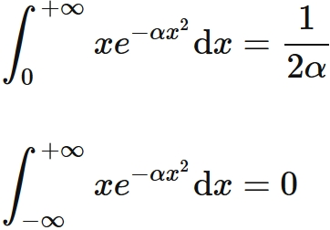 gaussian integral first order