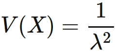 Variance of the Exponential distribution