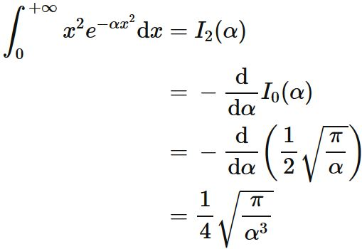 gaussian integral  formula and proof